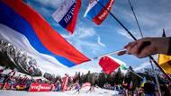 Nechyběli ani ruští fanoušci, kteří ale museli překousnout další dopingové spekulace kolem Alexandra Loginova.