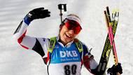 Lucie Charvátová mohla v cíli sprintu mávat do objektivů.