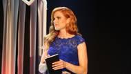 Na Biatlonistovi roku měla modré šaty.