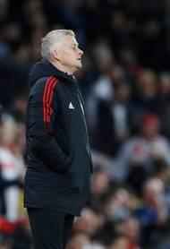 ... na straně druhé zmar a zklamání Oleho Gunnara Solskjaera, trenéra Rudých ďáblů. Manchester United - Liverpool 0:5.