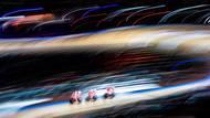 Dánský tým na cestě za světovým rekordem v týmové stíhačce na světovém šampionátu na dráze v Berlíně, 2020. (Canon EOS 1DX, EF 24-70/2,8 USM L II, 1/4 s, f/9, ISO 125)
