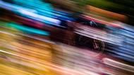 Světový pohár ve sjezdu na horských kolech v americkém Snowshoe v září 2019. (Canon EOS 1DX, EF 70-200 2,8 IS USM L II, 1/10 s, f/16, ISO 50)