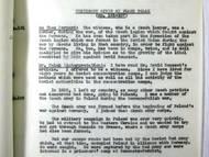 Výpověď Františka Poláka u pařížského soudu se dostala v anglickém překladu k Prozatímní komisi OSN k nucené práci.