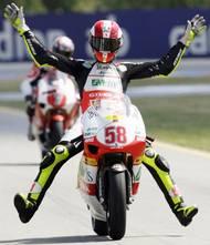 Simoncelliho číslo 58 bylo staženo ze všech tříd MS silničních motocyklů teprve jako třetí v historii.