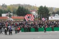 Pietní vzpomínka na Marca Simoncelliho se konala spontánně také v Brně, stalo se tak už 30. října 2011.