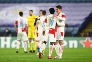Slávisté slaví postup v odvetě 2. kola Evropské ligy Leicester - Slavia