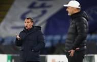 Trenéři Brendan Rodgers a Jindřich Trpišovský v odvetě 2. kola Evropské ligy Leicester - Slavia