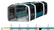 """Posunutá osová souměrnost má pomoci rovnoměrnějšímu rozptylu pasažérů po prostoru. """"Řešení by mělo přinést menší koncentraci cestujících u dveří,"""" dodává k tomu Siebert."""