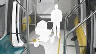 Krajní vagony studentka vybavila zónami s opěrkami bez sedáků, určenými ke stání pro krátké cesty či přepravu větších zavazadel.