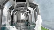 """Metro je po celé své délce také asymetrické, což je způsobeno spirálou (neboli šroubovicí). Také proto autorka projekt pojmenovala """"Helix"""" (""""Spirála""""). Šroubovice se obtáčí kolem celého prostoru a tradičně paralelní okna a dveře jsou tak po obou stranách vůči sobě vyosená."""