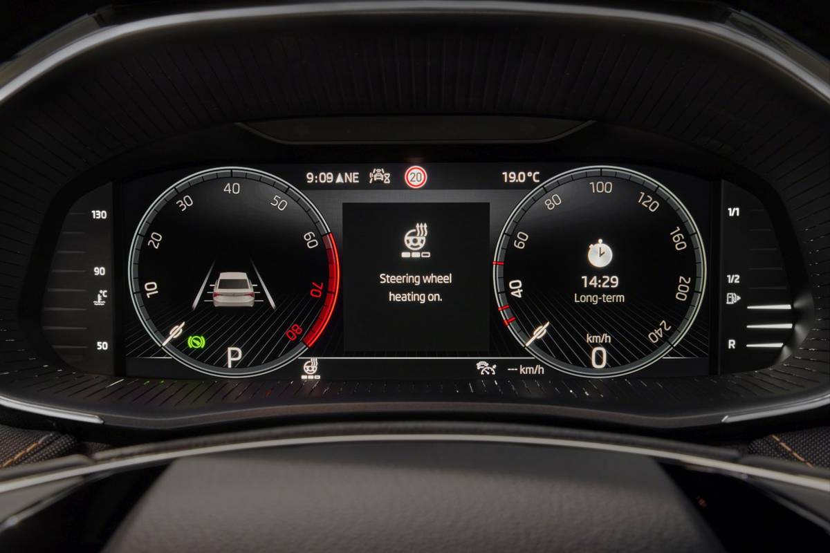 Fabia bude mít poprvé také vyhřívání volantu.