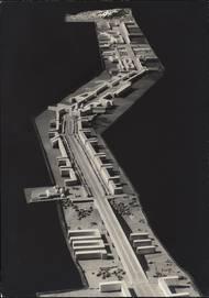 Model Hlavní třídy od Nuselského mostu k Troji (1942).