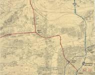 Tři trati rychlodráhy v návrhu z roku 1942.