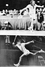 Tenisová Masters Grand Prix - předchůdce Turnaje mistrů v roce 1973. Jan Kodeš v Bostonu prohrává s Johnem Newcombem. V životní sezoně stanul na čtvrtém místě světového žebříčku.